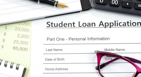 pic of student loan document