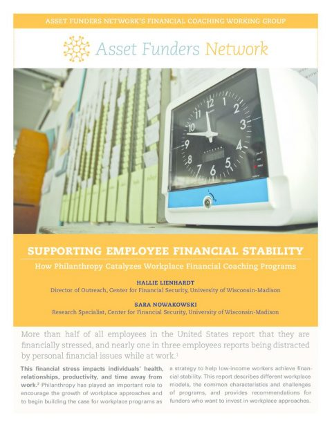 thumbnail of AFN 2018 Brief Employee Financial Coaching