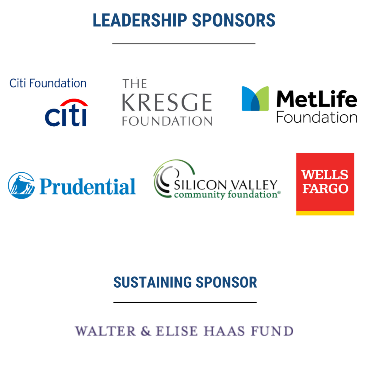 Logos of the conference sponsors