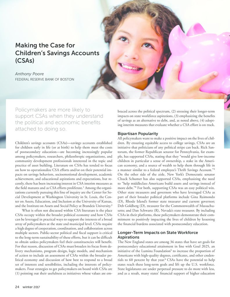Making the Case for Children's Savings Accounts - Asset