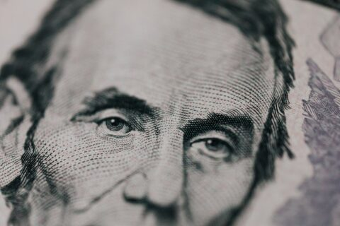 Picture of Abe on money