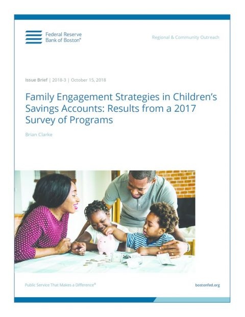 thumbnail of October 15, 2018 – Family Engagement Strategies in Children's Savings Accounts – Results from 2017 Survey of Programs