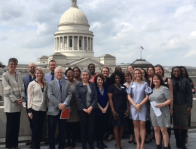 Arkansas Asset Funders Network members join the Arkansas Women's Foundation to discuss the economic status of women in the state.