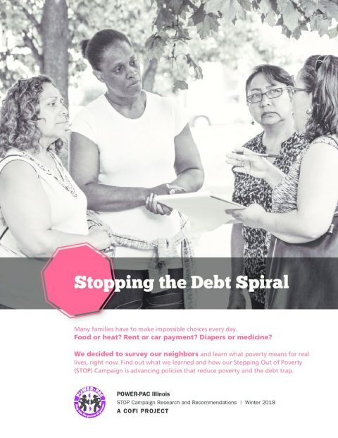 thumbnail of September 7, 2018 – Community Organizing and Family Issues' report, Stopping the Debt Spiral PDF
